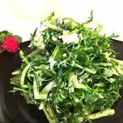 ピリっと大人の水菜サラダ