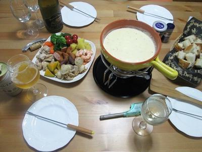 おうちパーティに(^^♪ チーズフォンデュ