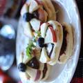 ヨーグルト入りホットケーキでヌテラのプチリンゴケーキ