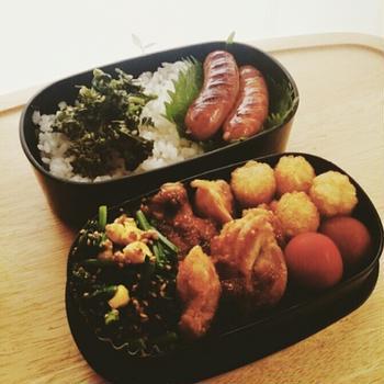 5月3日(火) 鶏肉をレモン香味だれで焼いたお弁当。