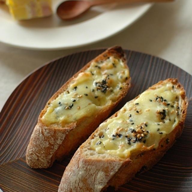 2色ごまチーズトースト