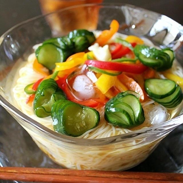ぶっかけ野菜素麺