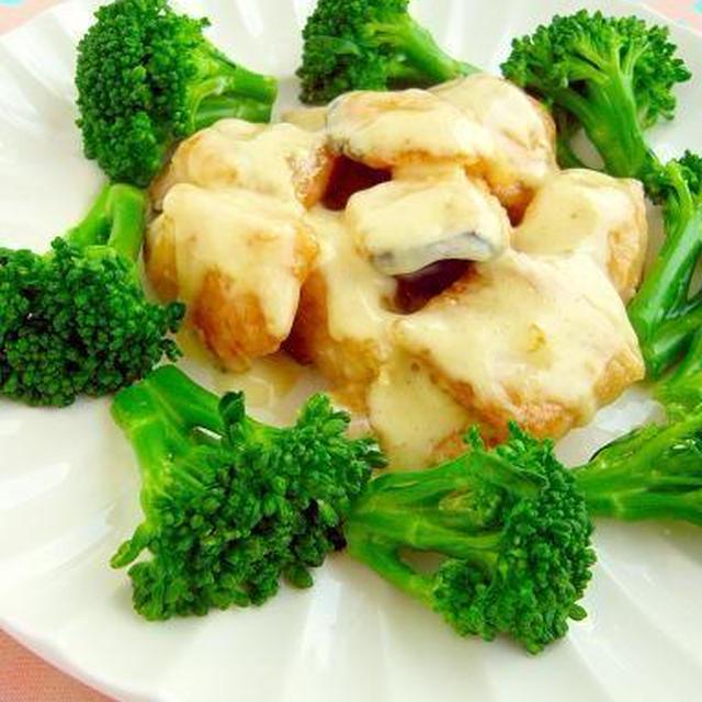 鮭のガーリックマヨネーズ&彩り野菜のマスタードサラダ