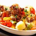 男子ご飯*スタッフドトマトのオーブン焼き
