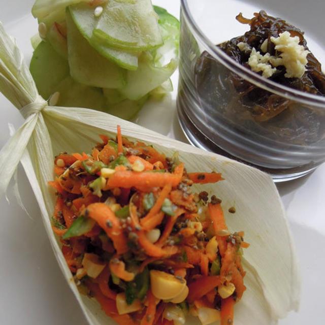夏のローフード前菜3種