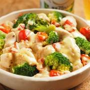 鶏むね肉とブロッコリーのチーズ蒸し 、 電子レンジ加熱時間の目安