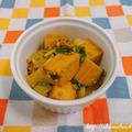 【スパイスアンバサダー】GABANガラムマサラを使って、セロリと高野豆腐のカレー風味そぼろ炒め