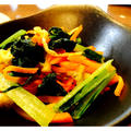 小松菜と油揚げの中華炒め