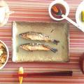 鮎の塩焼きと鮎の唐揚げ