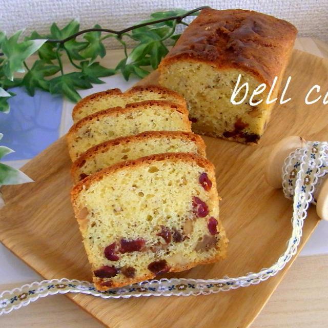 ダブルベリーと胡桃のパウンドケーキ