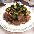 豚タンと小松菜の塩コショウ炒め(10分以内)