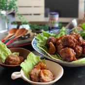 菊芋と肉団子の甘酢あん