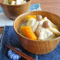 かぼちゃの甘みでほっこり♪食べるスープ☆具沢山豚汁