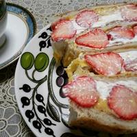 苺のカスタードクリームサンド(レシピ)