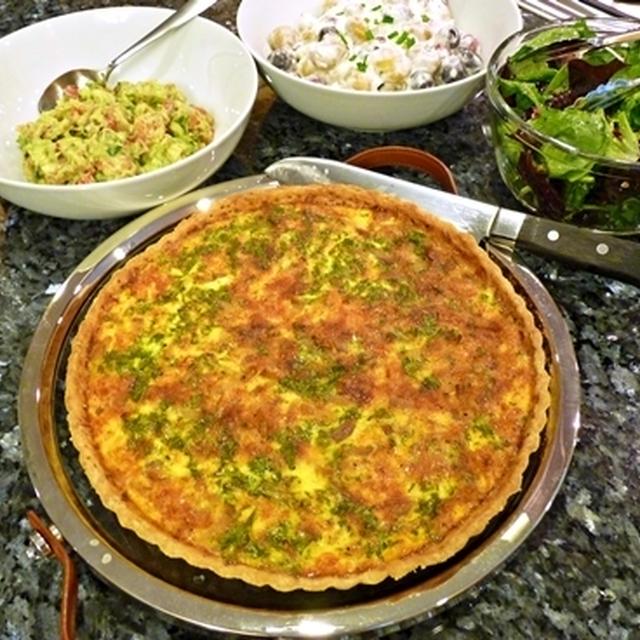 キッシュロレーヌ&サラダ3種
