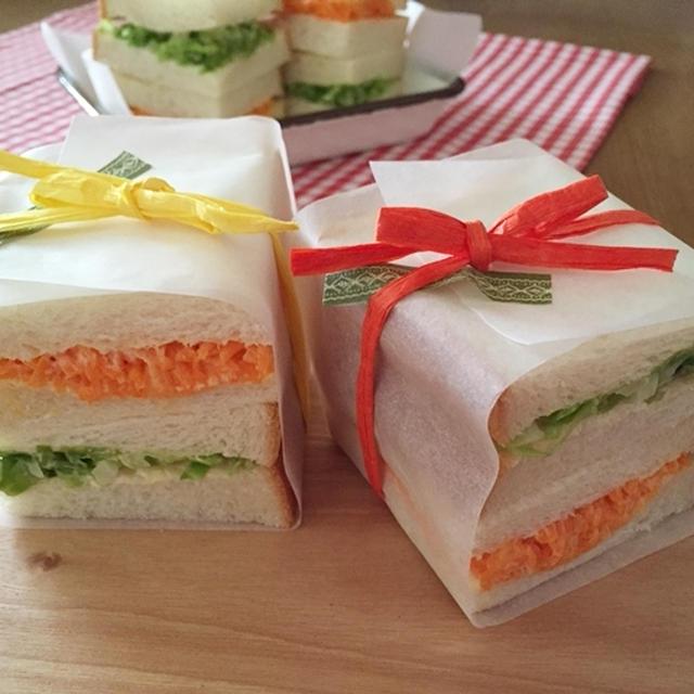 キャベツと人参のサンドイッチ