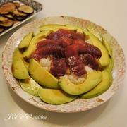 マグロとアボカドの漬け寿司【切って漬けるだけの超簡単レシピ:工程写真付き】
