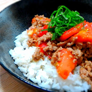 簡単!!ごろごろトマト丼の作り方/レシピ