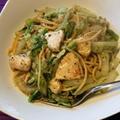 チキンと白菜の香るペペロンチーノ