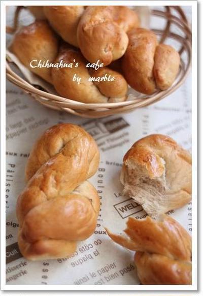 クルミとクリームチーズのパン