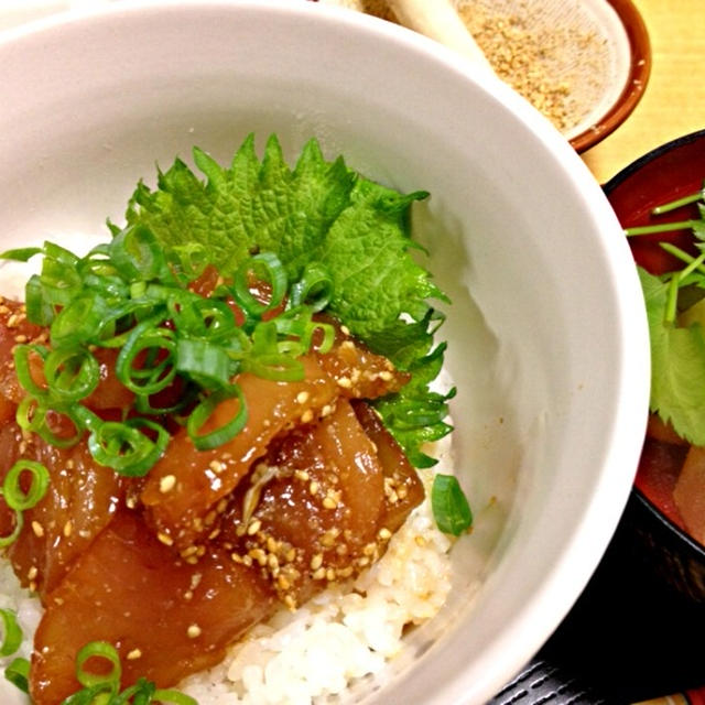 琉球丼  主人と私の晩御飯
