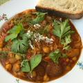 チョリソーとひよこ豆のトマトシチュー
