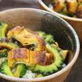 365日レシピNo.211「ウナギとニガウリのスタミナ丼」