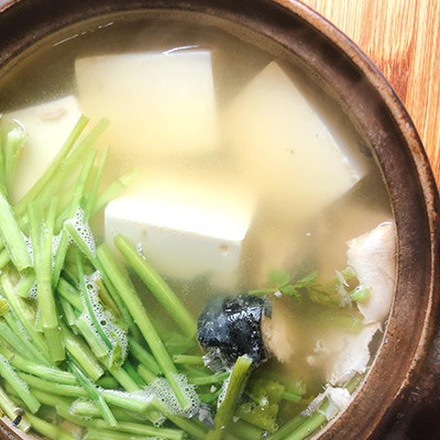 寒いのでサバ缶湯豆腐