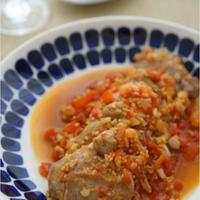 3ステップで簡単!豚ヒレ肉のフレッシュトマト煮