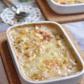 お鍋一つで簡単!トロ~~り白菜グラタンとアボカドの白和酢和えの晩御飯