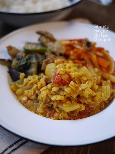 お家で南インド料理♪お料理ラボ あっ食べたい!なその時に〜♪ 南インドの定食ミールズを簡単!即席に♪