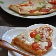 休日の簡単ごはん~フライパン一つで!10分でできる簡単ピザ~