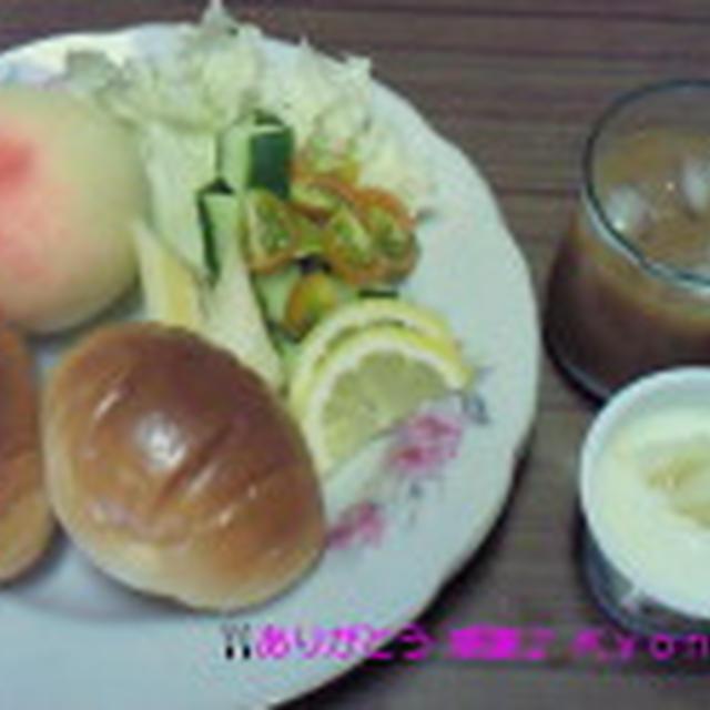 Good-morning Kyonの自家製野菜~フルーツ盛りもりモーニング~編じゃよ♪