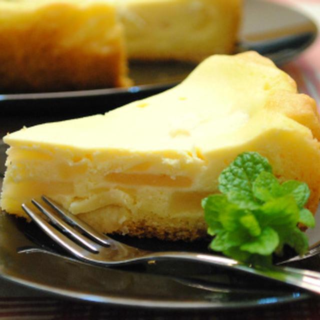 ホットケーキミックス×炊飯器で アップルチーズタルト ☆