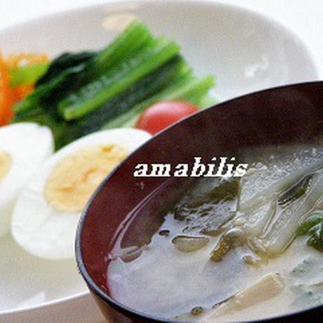 玉子と野菜の定食