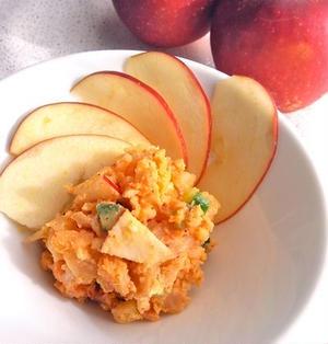 林檎とキムチのポテトサラダ