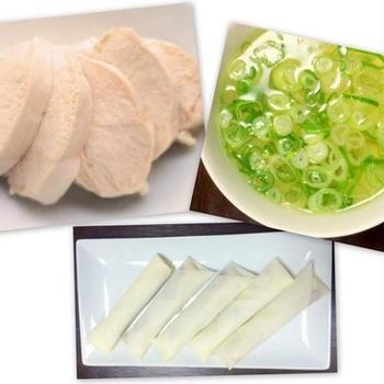 超節約レシピ!鶏胸肉で3品[サラダチキン・ペテンダック・スープ]作る方法