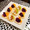 紫芋のデザートサラダ で スパイスカナッペ