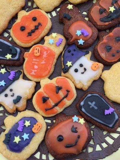 子供と楽しく作る♪♪ハロウィンアイシングクッキー