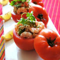 カリビアンdeアボガド・海老カップトマト