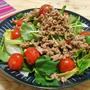簡単!!香味野菜と豚ひき肉のエスニック風サラダの作り方/レシピ