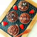 ♡HMで作る♪しっとり濃厚チョコレートマフィンの作り方♡【チョコ組み合わせ自由*おやつ*簡単】 by yumi♪さん