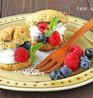 バター不使用サクサク紅茶スコーン☆ホットケーキミックスで簡単お菓子