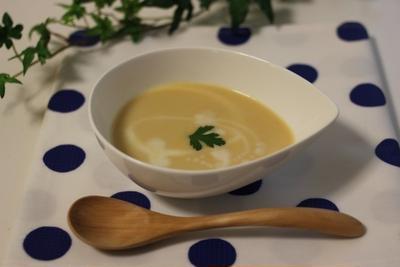 肉じゃがの残りで♪冷製スープ(ビシソワーズ風)