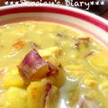 スパイスで!さつまいもと鶏ささみのスープ〜カレー風味♪【スパイス大使】 by ぺるしゃんさん