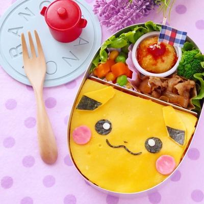 キャラ弁☆薄焼き卵deピカチュウオムライスの作り方(中級)