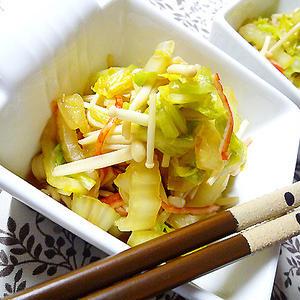 冬の食卓を引き立てる!白菜×えのきで作るサブおかずレシピ
