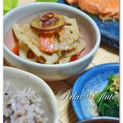 レンコンとさつま芋のおかずきんぴら 【ルクエ・スチームロースター】