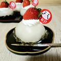 いちご大福風レアチーズケーキ