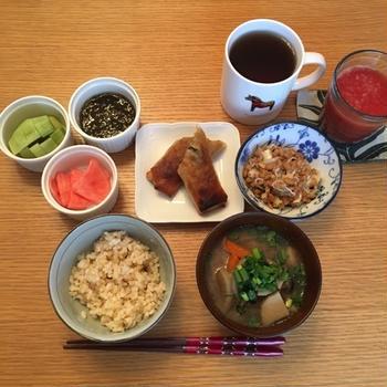 落ち着く朝食